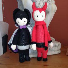VLAD the vampire bat and devil mod / crochet pattern for the bat by lalylala