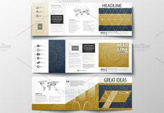 Tri-fold brochures v.14, abstract design brochure by VectorShop on @creativemarket