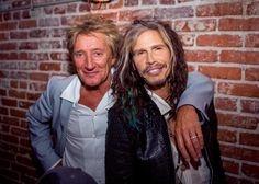 Steven Tyler (The Aerosmith), with Rod Stewart. Mia Tyler, Simon Baker, Divas, Steven Tyler Aerosmith, Joe Perry, Rod Stewart, Rockn Roll, Rock Legends, Musica