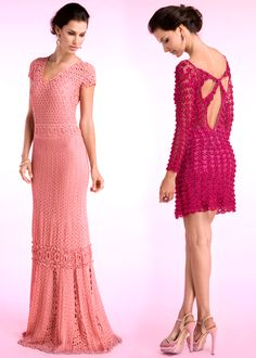 stunning crocheted dresses