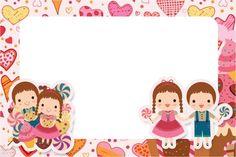 Convite, Moldura e Cartão João e Maria Candy Colors:
