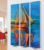 Glass Designer Radiator M11 Red Boat Triple  Image