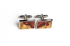 Check out this item in my Etsy shop https://www.etsy.com/listing/515609080/wooden-cuff-links-rectangular-amboyna