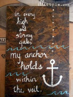 my anchor holds, love this