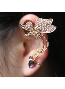 Elegant Starry Crystal Butterfly Ear Cuff from EricDresses on less price. Use coupon and promotional codes.