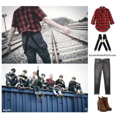BTS I need u MV inspired by Rap Monster outfit by mynotebookofstyle on Polyvore featuring Golden Goose, McGuire, bts, BangtanBoys, rapmonster, kpopoutfit and inspiredbyoutfit (Kpop Outfit)