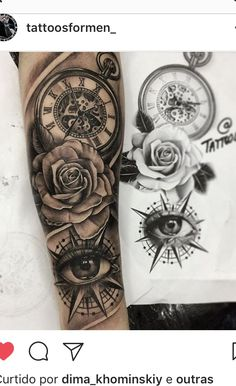 29 ideas eye tattoo rose ink tattoo old school tattoo arm tattoo tattoo tattoos tattoo antebrazo arm sleeve tattoo Forarm Tattoos, Forearm Sleeve Tattoos, Tattoo Sleeve Designs, Rose Tattoos, Leg Tattoos, Body Art Tattoos, Tatoo Rose, Compass Rose Tattoo, Tattoos Pics