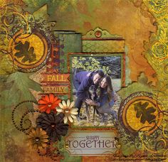 BoBunny Team's Gallery: So Happy Together by Lynn Shokoples...such an amazing page!!!  Love her colors!!
