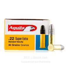 Aguila SuperExtra 22 LR Ammo - 500 Rounds of 40 Grain LRN Ammunition #22LR #22LRAmmo #Aguila #AguilaAmmo #Aguila22LR #LRN #AguilaSuperExtra