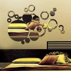 Espelho auto-adesivo de acrílico.  Decore seu ambiente, use sua imaginação...  www.mysticker.com.br