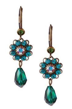 HauteLook | Liz Palacios Earrings: Swarovski Crystal Floret Double Drop Earrings