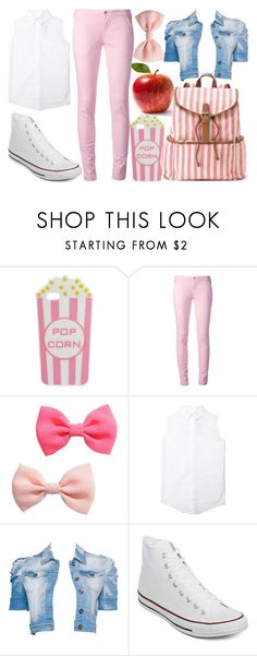 """""""For my fanfiction"""" by carlou863 ❤ liked on Polyvore featuring Skinnydip, FAY, H&M, The Fashion Club, Converse, Candie's and fanfiction"""