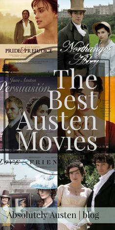 The Best Austen Movies There are 7 Jane Austen novels. These are the 8 best movies. It is, of course, subjective. Everyone has their favorites. But these are the best. Find more Jane Austen articles and recommendations on www. Period Drama Movies, British Period Dramas, Best Period Movies, Good Movies To Watch, Great Movies, Amazon Prime Movies, Jane Austen Movies, Bon Film, Film Streaming Vf