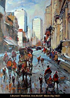 Montreal, Avenue Mcgill Montreal, Explore, Creative, Painting, Painters, Painting Art, Paintings, Paint, Draw
