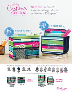 Thirty-One April Customer Special. Click to order
