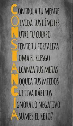 Inspirational Quotes: Constancia #Frases hermosas #amor #quotes #frases y reflexiones #liderazgo #pensamientos positivos
