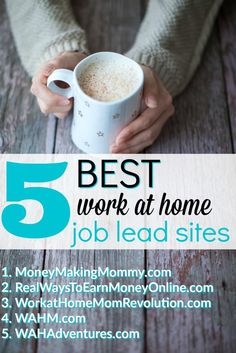 Looking for work at home? Dreaming of a home-based job? Then get real leads. Top 5 sites to search.