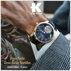 From the Monaco Yacht Show  our sales manager @kevin_k1999 is wearing the new @ulyssenardinofficial Ulysse Anchor Tourbillon. In-house movement / Rose gold case / Carbon fiber dial / Tourbillon / 8 days power reserve / Limited to 18 pieces. by kronometry1999