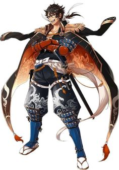 Mutsunokami Yoshiyuki Kiwame form Fantasy Character Design, Character Concept, Character Inspiration, Character Art, Touken Ranbu, Dnd Characters, Fantasy Characters, Samurai Concept, Mutsunokami Yoshiyuki