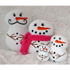 In The Hoop :: Softie Toys :: Snowman Softies - Embroidery Garden In the Hoop Machine Embroidery Designs