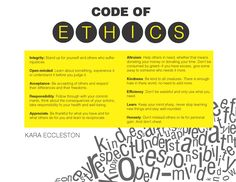 the code of ethics is broken into three major areas obligation to  personal code of ethics essay 8 best code of ethics and principles of professional conduct