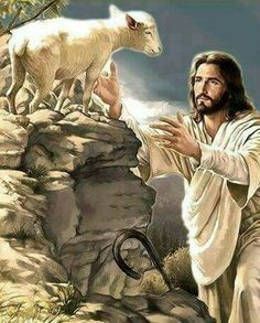 Those of us who are saved are the sheep of the Lord Jesus Christ. Pictures Of Jesus Christ, Bible Pictures, Jesus Pics, Angel Pictures, Jesus Art, God Jesus, Image Jesus, Première Communion, Jesus Painting