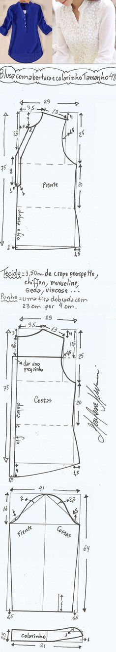 Mejores 109 imágenes de ideas de costura en Pinterest | Sewing ...