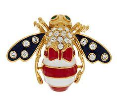 Joan Rivers Patriotic God Bless America Bee Pin