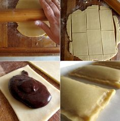 Homemade nutella poptartsm-- how to make Nutella from scratch + how to freeze a big batch of poptarts to bake at a later date. Yummy Treats, Sweet Treats, Yummy Food, Pop Tarts, How To Make Nutella, Homemade Vanilla Extract, Best Sweets, Dessert Recipes, Desserts