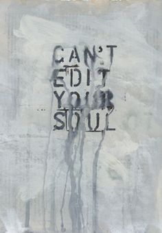 Can't edit your soul