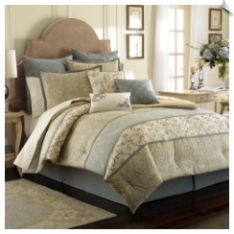 Laura Ashley Berkley Bedding Set. The Laura Ashley Berkley Bedding Set is a luxurious way to transform your bedroom into a daily retreat. This bedding set lets you customize it to perfection. Choose the comprehensive comforter set or add on coordinating sheets, Euro pillow shams, and plump toss pillows. #bedding #comforter #lauraashley #luxury