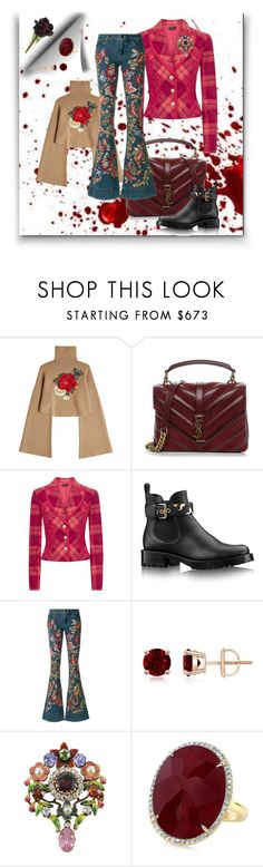 """""""crazy her"""" by georgine-d ❤ liked on Polyvore featuring William Fan, Yves Saint Laurent, La Perla and Alice + Olivia"""