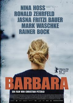 BARBARA (GER 2012) ★★★★,  Petzold's elegant drama bases on human & political dilemmas. Nina Hoss plays Barbara, a doctor in the East Germany of 1980. As a punishment for political insubordination, she has been banished to a hospital in the provinces, where she is planning her escape with her lover. Hoss is magnificent here, playing Barbara watchful & tense. The film puts up its suspense in a slowly & understated way, that is very beautiful to look at.