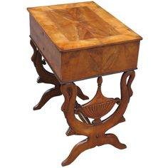 South German Biedermeier Sidetable / French Directoire style influence, Cherry Wood / c.1830