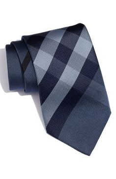 Wish my groom's men could afford this burberry tie... perfection for a casual navy wedding!