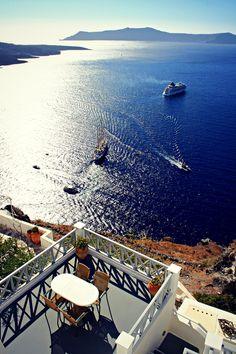 Sailing in Santorini's Caldera