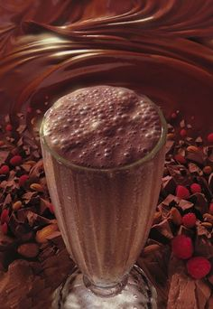 batido de frambuesa y chocolate