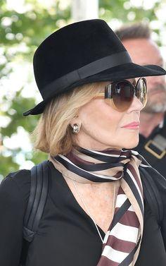 Oscar-winning actress Jane Fonda arriving in Venice Airport, August 30