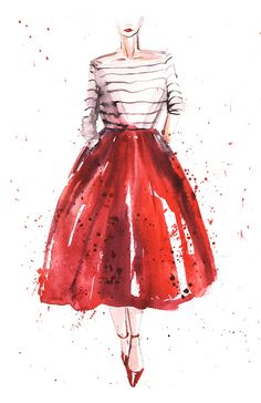 Best fashion illustration watercolor inspirational Ideas Best fashion illustration watercolor inspiYou can find W. Watercolor Dress, Watercolor Fashion, Fashion Painting, Fashion Art, Trendy Fashion, Fashion Ideas, Watercolor Design, Classy Fashion, Party Fashion