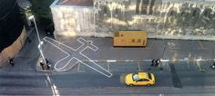 Military drone outlines drawn on the ground by James Bridle have been named as a Designs of the Year 2014 category winner. Surveillance Drones, Network World, Floor Graphics, Under The Shadow, Environmental Art, Conceptual Art, Public Art, Public Spaces, Installation Art