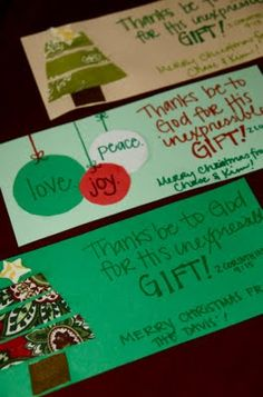 i need to make these cards again for christmas gifts. LOVE this verse to sum up Christmas.
