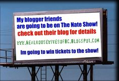 Win tickets to the Nate show! yay!