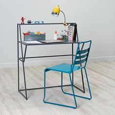 sprung on their spring-can i be a kid again?!!  Metalwork Desk (Grey)    The Land of Nod