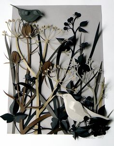 'Autumn Hedgerow' papercut by Helen Musselwhite
