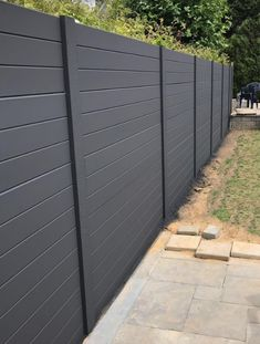 Concrete fence Prestige Smooth - Fencing concrete Utah (panel) - in 2019 Wood Privacy Fence, Concrete Fence, Diy Fence, Front Yard Fence, Fence Panels, Fence Ideas, Concrete Patios, Backyard Plan, Backyard Fences
