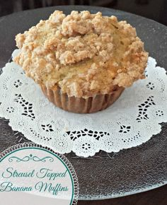 Streusel Topped Banana Muffins