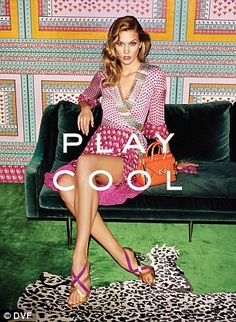 Empowering: Karlie Kloss stars in designer Diane von Furstenberg's Spring 2016 campaign, which is focused on empowering women to be themselves