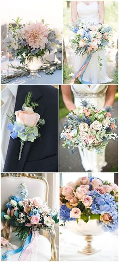 Ideas and Inspiration - Rose Quartz and Serenity Themed Wedding