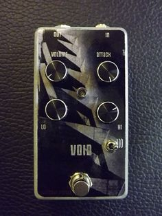 "This is VOID. An intensely heavy pedal from new company ""Lights Out"". Inspired by Sunn o))), Earth and Om, but capable of huge versatility with many heavy genres, excelling on bass but       also great with guitar sounds due to it's versatile EQ and attack section. Loosley structured on a layout similar to a Meathead/Fuzz face circuit,  it deviated heavily from that sonic signature to a more spaced out realm, and additionally includes the BASS and TREBLE tonestack from a Sunn ..."