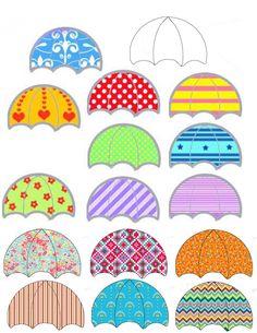 Free Printable Umbrella Template  Kuvis Syksy    Free